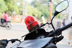 Sirena di polizia - sorvegliando Fotografie Stock Libere da Diritti