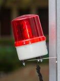 Sirena di rosso dell'allarme Fotografia Stock Libera da Diritti