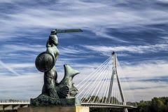 Sirena di Varsavia Fotografie Stock