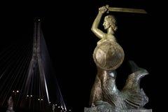 Sirena di Varsavia alla notte Immagine Stock Libera da Diritti