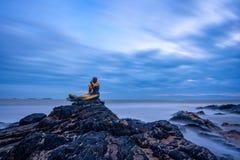 Sirena dorata Fotografia Stock