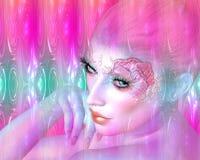 Sirena, el estar mitológico en un estilo digital moderno del arte Imagen de archivo