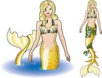 Sirena en el agua Imagenes de archivo