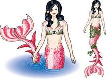 Sirena en el agua Fotografía de archivo libre de regalías