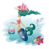 Sirena en un paseo Imagen de archivo