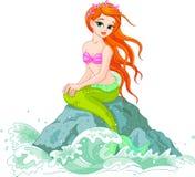 Sirena hermosa stock de ilustración
