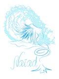 Sirena nella schiuma Fotografie Stock