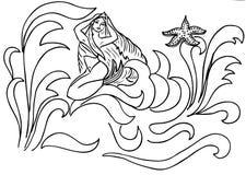 Sirena nelle onde Immagini Stock