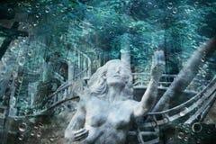 Sirena in Onderwater Stock Afbeeldingen