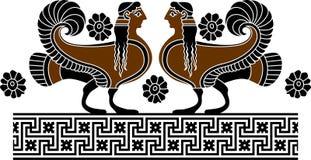 Sirena ornamentale illustrazione vettoriale