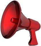 Sirena roja de la alarma del megáfono ilustración del vector