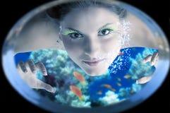 Sirena sotto acqua fotografia stock libera da diritti