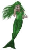 Sirena verde Fotografie Stock