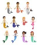 Sirenas stock de ilustración