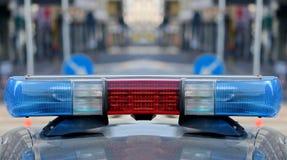 Sirenas del coche policía Fotografía de archivo libre de regalías