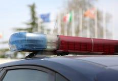Sirenas del coche policía en Italia Foto de archivo libre de regalías