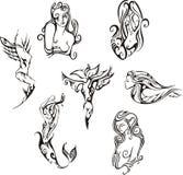 Sirenas estilizadas Foto de archivo libre de regalías