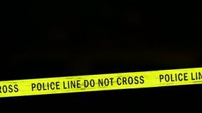 Sirene do carro de polícia video estoque