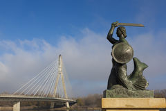 Sirene, emblema de Varsóvia foto de stock royalty free