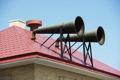 Sirene - trombe di Daboll Fotografia Stock Libera da Diritti
