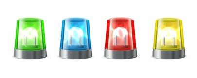 Sirenealarm Opvlammende lichten Royalty-vrije Stock Afbeelding