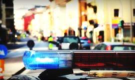 Sirenen des Polizeiwagens Stockbild