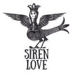 Sirenenstich tatoo Stockfoto