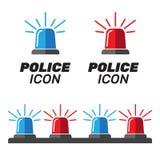 Sirenereeks Politieflitser of ziekenwagenflitser Sirenepolitie lig Stock Foto's