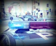 Sirenes do carro de polícia Fotografia de Stock Royalty Free