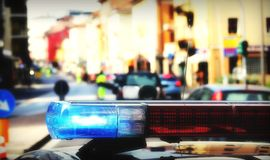 Sirenes do carro de polícia Imagem de Stock