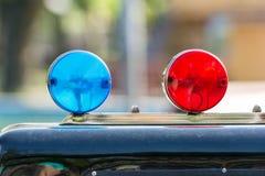 Sirenes vermelhas e azuis Imagens de Stock Royalty Free