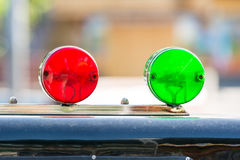 Sirenes vermelhas e verdes Fotos de Stock Royalty Free
