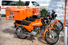 Sirenesmotorfietsen in Cozumel, Mexico Royalty-vrije Stock Foto