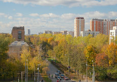 Sirenevyj boulevard in fall, Moscow, Russia Royalty Free Stock Photo