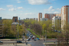 Sirenevyjboulevard in de lente, Moskou, Rusland Stock Fotografie