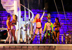 Sirens of TI show, Treasure Island, Las Vegas Royalty Free Stock Photos