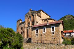 Siresa romanesque monastery in Huesca Aragon Royalty Free Stock Photos