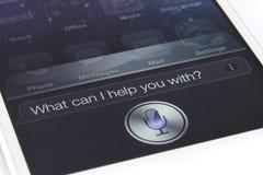 Siri en el iPhone 4S Fotografía de archivo