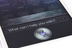 Siri sul iPhone 4S Fotografia Stock