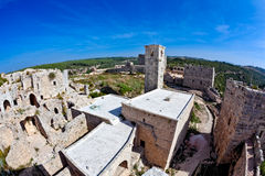 Siria - castillo de Saladin (dinar del anuncio de Qala'at Salah) Fotos de archivo