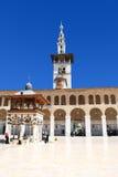 Siria. Damasco. Mezquita de Omayyad (mezquita magnífica de D Foto de archivo libre de regalías