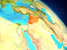 Siria de la órbita stock de ilustración