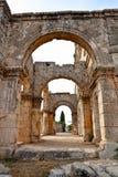 Siria - iglesia de St. Simeon - Qal'a Sim'an Foto de archivo