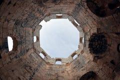 Siria - iglesia de St. Simeon - Qal'a Sim'an Fotos de archivo libres de regalías