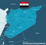 Siria - mapa y bandera - ejemplo detallado del vector Fotografía de archivo libre de regalías