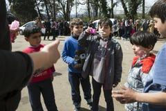 Sirian refugees blocked in Idomeni Royalty Free Stock Photos