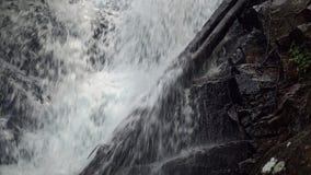 Siribhume siklawa w Doi Inthanon parku narodowym w Chiang Mai, Tajlandia Zamyka w górę widok zbiory wideo