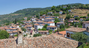 Sirince村庄,伊兹密尔省,土耳其 免版税库存照片