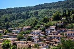 Sirince, een kleine stad in Izmir, Turkije Stock Afbeelding