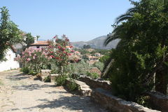 Sirince, oud Turks dorp Stock Foto